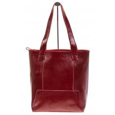 На фото 2 - Стильный шоппер цвета бордо 822