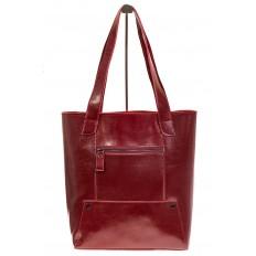 На фото 3 - Стильный шоппер цвета бордо 822