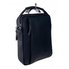 На фото 1 - Мужская сумка-трансформер из натуральной кожи, цвет чёрный