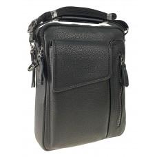 На фото 1 - Мужская сумка слинг из натуральной кожи, цвет чёрный