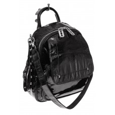 На фото 1 - Блестящий молодежный рюкзак, цвет черный