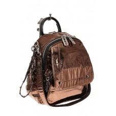 На фото 1 - Блестящий молодежный рюкзак, цвет бронза
