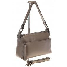 на фото Бежевая сумка shoulder bag из кожи Buffalo 8256MK5