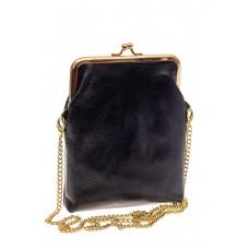 На фото 1 - Женская вечерняя мини-сумочка с фермуаром, ...