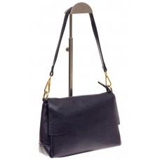 На фото 1 - Женская сумка из натуральной кожи, цвет син...