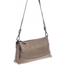 На фото 1 - Маленькая стёганая сумка, цвет серый