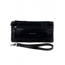 На фото 1 - Маленький кошелёк-клатч из мягкой искусственной кожи, цвет чёрный