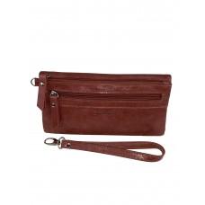 На фото 1 - Маленький кошелёк-клатч из мягкой искусственной кожи, цвет бордовый