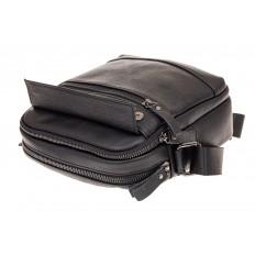 На фото 3 - Мужская кожаная сумка, цвет черный