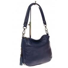На фото 1 - Маленькая сумка хобо из натуральной кожи, ц...