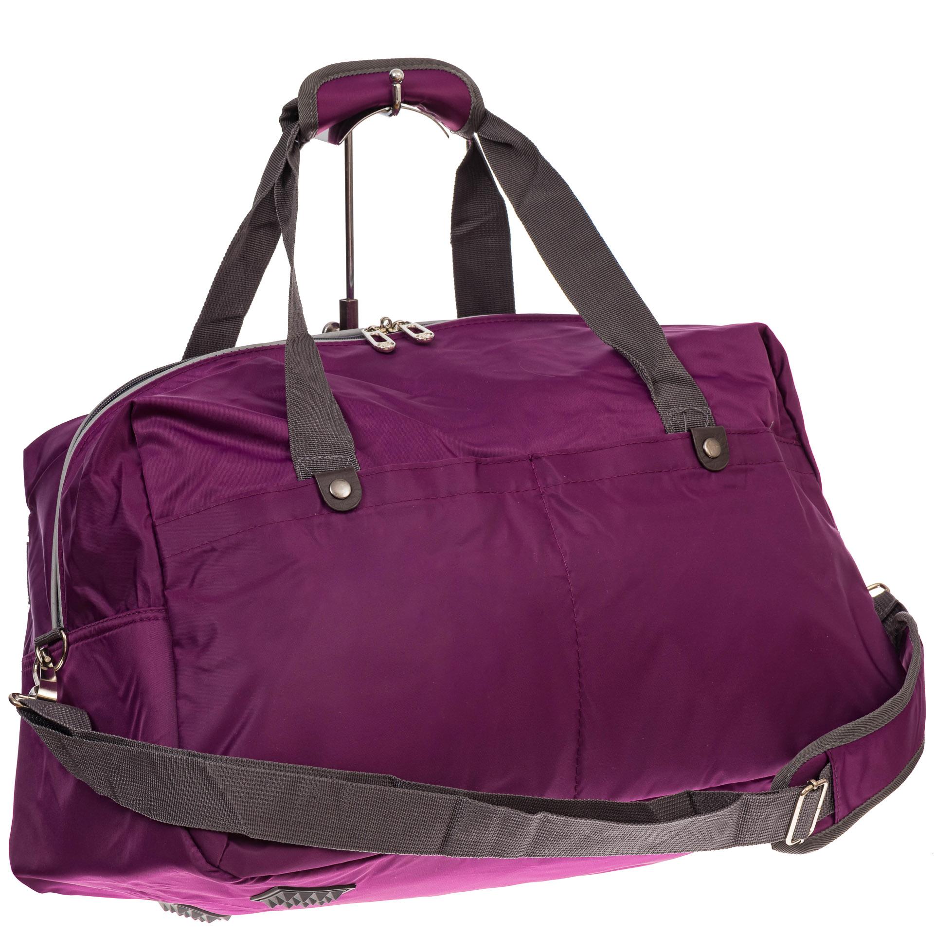 На фото 1 - Легкая и прочная дорожная сумка, цвет фиолетовый
