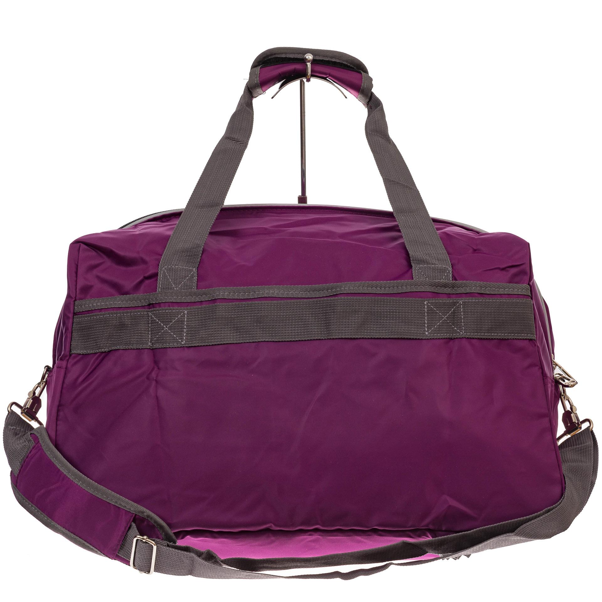 На фото 2 - Легкая и прочная дорожная сумка, цвет фиолетовый