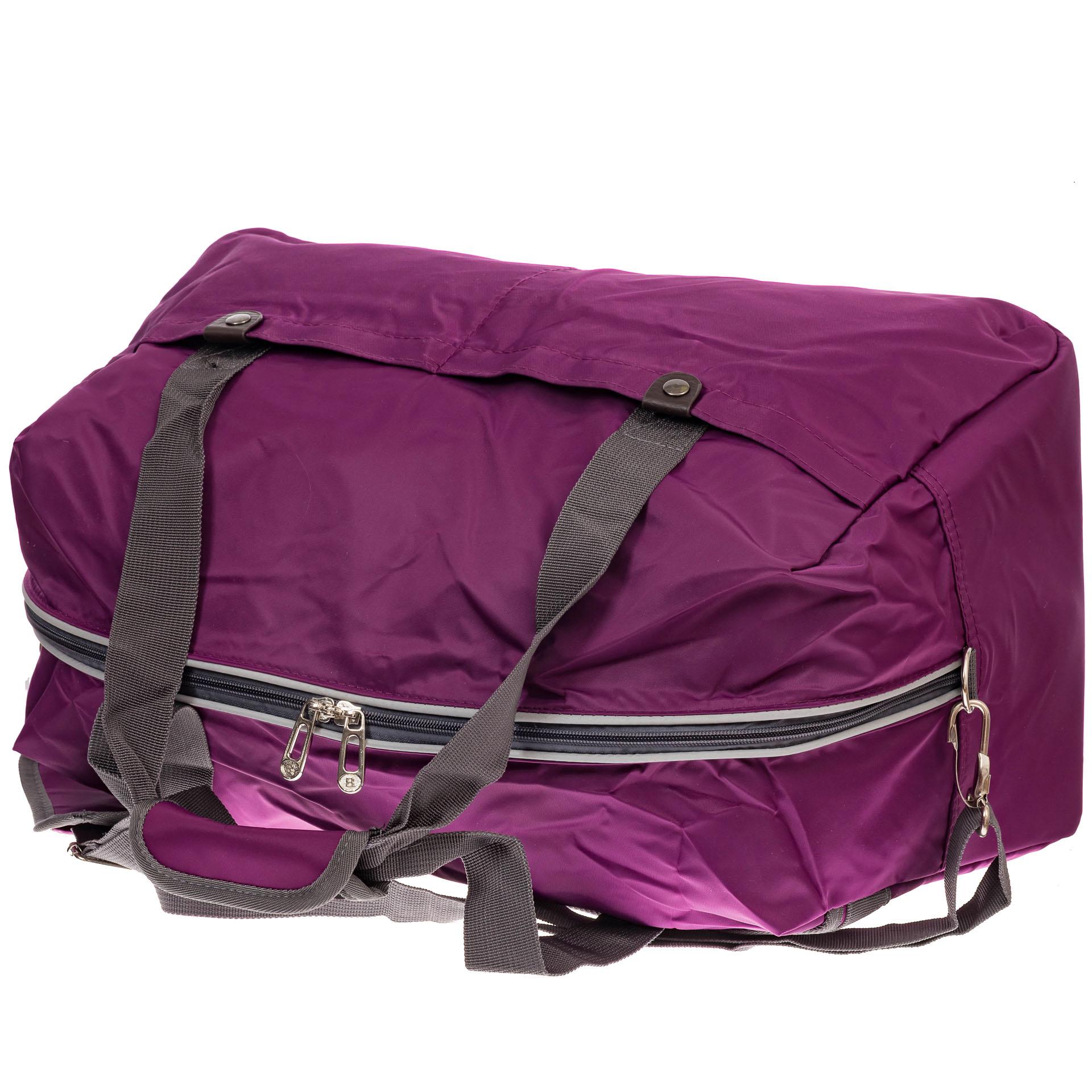 На фото 3 - Легкая и прочная дорожная сумка, цвет фиолетовый