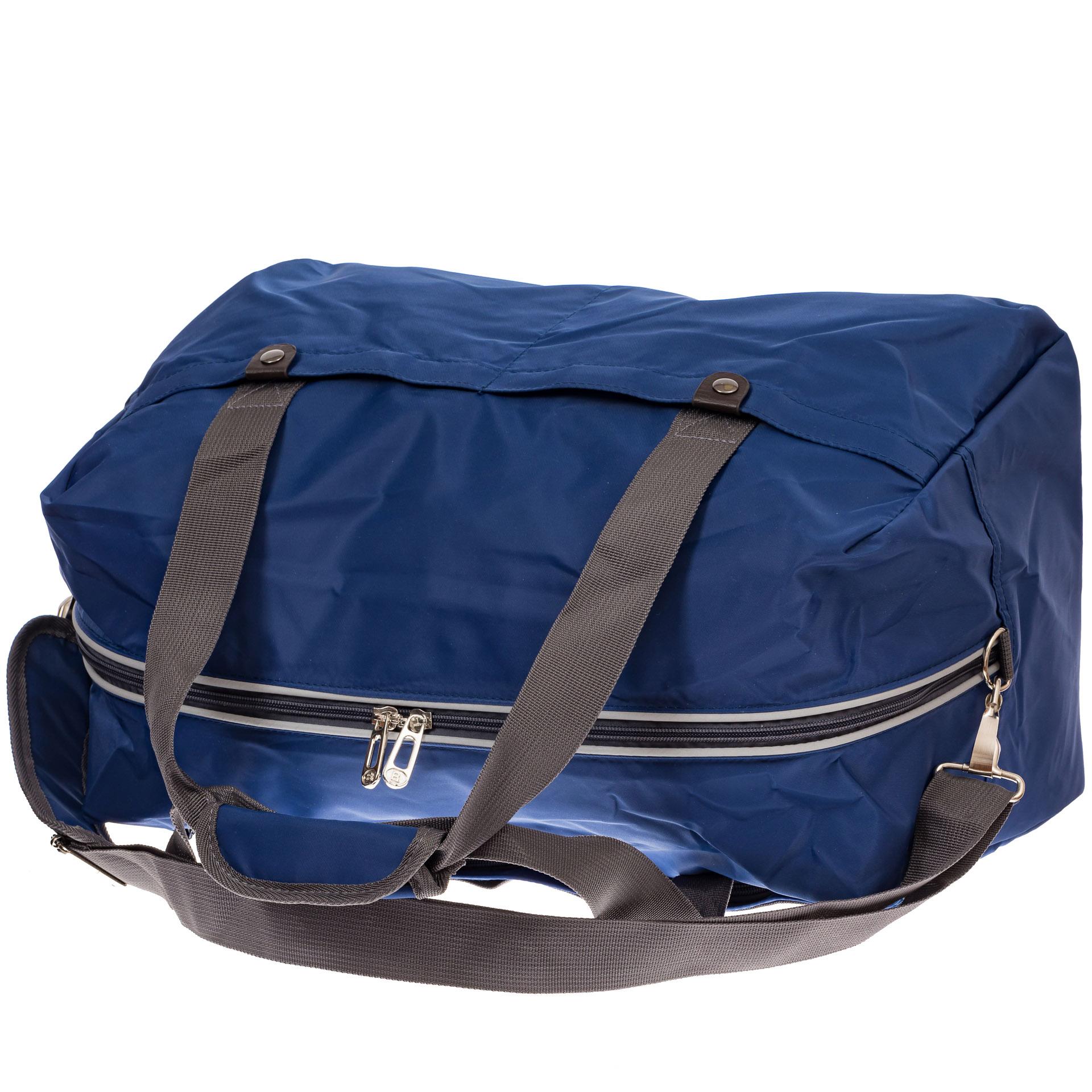 На фото 3 - Легкая и прочная дорожная сумка, цвет синий