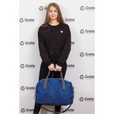 На фото 4 - Легкая и прочная дорожная сумка, цвет синий
