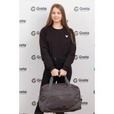На фото 4 - Легкая и прочная дорожная сумка, цвет серый