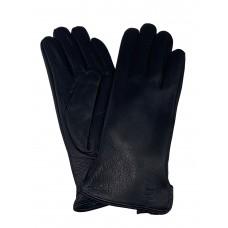 На фото 1 - Утеплённые женские перчатки из натуральной кожи оленя, цвет чёрный