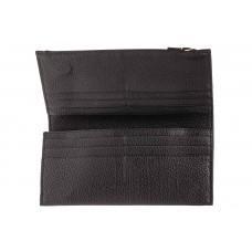На фото 1 - Мужское портмоне из натуральной фактурной кожи, цвет черный