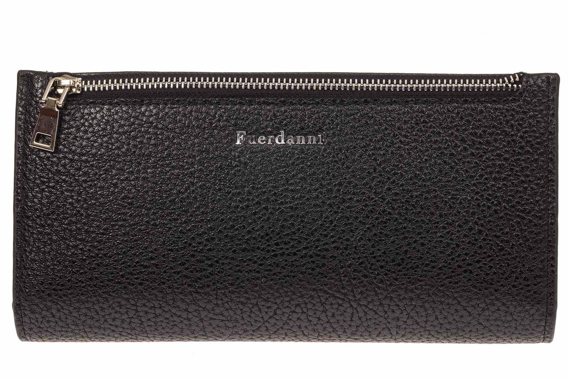 На фото 2 - Мужское портмоне из натуральной фактурной кожи, цвет черный