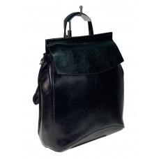 На фото 1 - Рюкзак-трансформер из натуральной кожи, цвет тёмно-серый