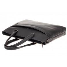 На фото 4 - Портфель мужской из натуральной кожи, цвет черный