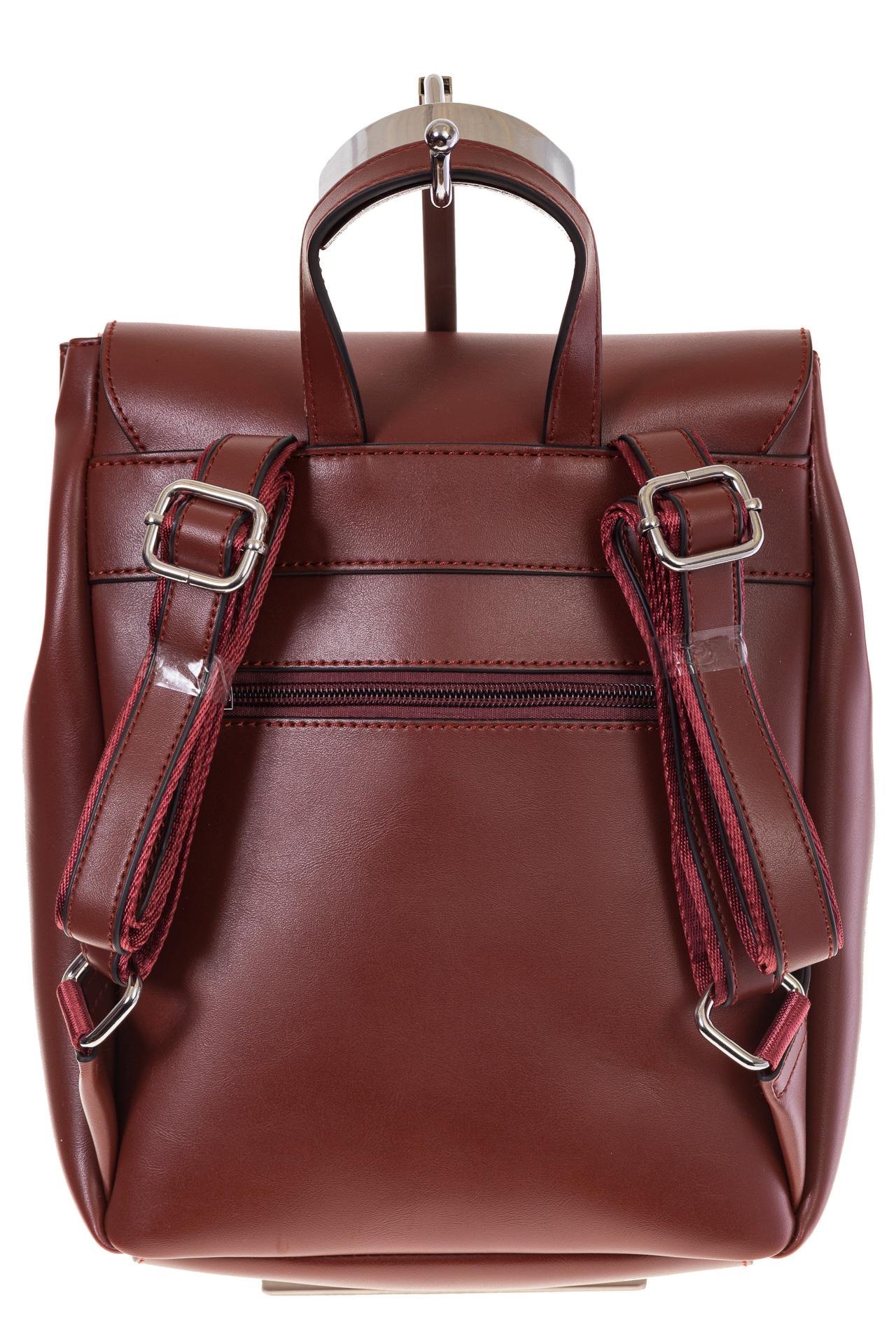 На фото 3 - Женский ранец из эко-кожи, цвет корица