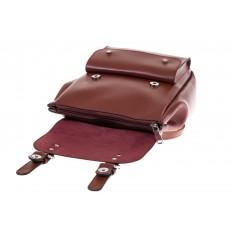 На фото 4 - Женский ранец из эко-кожи, цвет корица