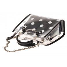 На фото 3 - Ring-bag из винила и эко-кожи, цвет черный