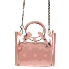 На фото 2 - Ring-bag из винила и эко-кожи, цвет розовый