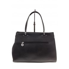 На фото 3 - Черная женская сумка из искусственной кожи
