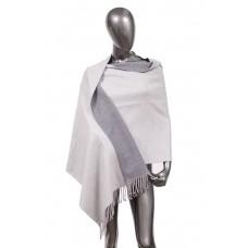 На фото 1 - Шарф-палантин из кашемира, цвет серый