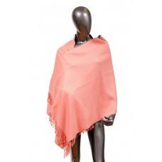 На фото 1 - Шарф-палантин из кашемира, цвет розовый
