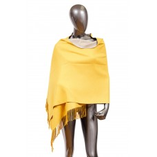 На фото 1 - Шарф-палантин из кашемира, цвет желтый