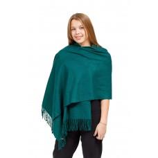 На фото 1 - Шарф-палантин из кашемира, цвет зеленый