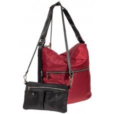 На фото 1 - Женская текстильная сумка, цвет бордо