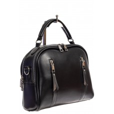 На фото 1 - Женская сумка-купол из искусственной кожи, цвет чёрный
