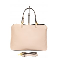 На фото 3 - Женская сумка тоут из искусственной кожи, цвет молочный