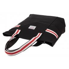 На фото 3 - Большая пляжная сумка из текстиля, цвет черный