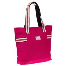 На фото 1 - Большая пляжная сумка из текстиля, цвет роз...
