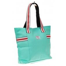 На фото 1 - Большая пляжная сумка из текстиля, цвет мят...