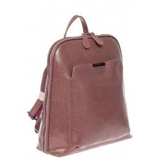 На фото 1 - Женский рюкзак из натуральной кожи, цвет пудра