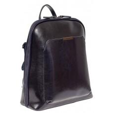 На фото 1 - Женский рюкзак из натуральной кожи, цвет тёмно-синий