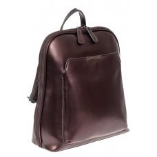 На фото 1 - Женский рюкзак из натуральной кожи, цвет бронза