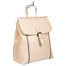 На фото 1 - Кожаный рюкзак-трансформер, цвет молочный