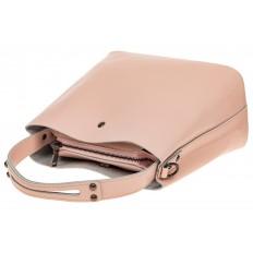 На фото 4 - Женская сумка шоппер из натуральной кожи, цвет розовый