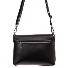 На фото 2 - Женская сумка кросс-боди из натуральной кожи, цвет черный