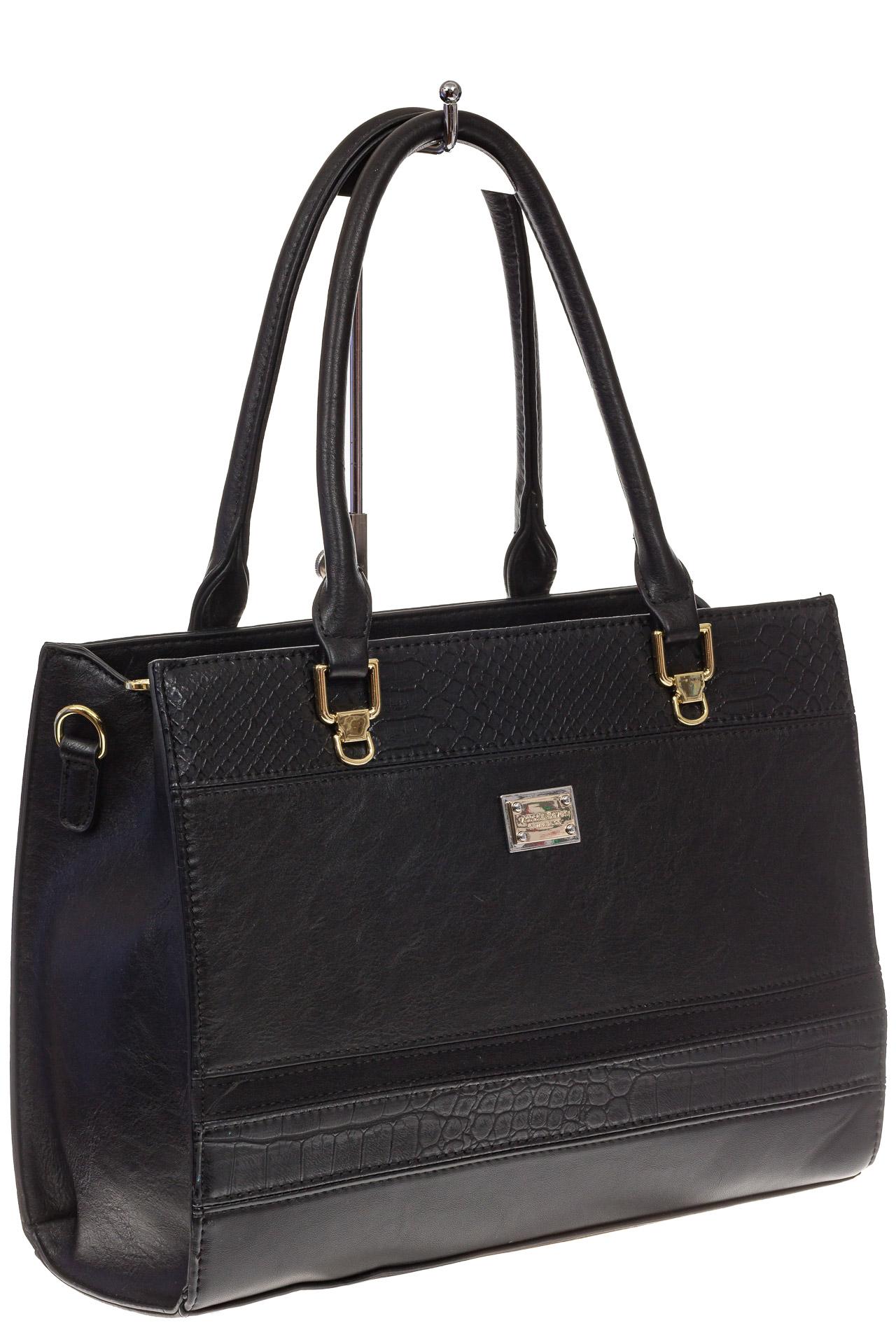 Женская сумка из искусственной кожи, цвет черный8668BP11/1