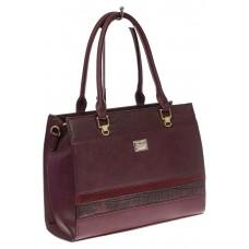 На фото 1 - Женская сумка из искусственной кожи, цвет б...
