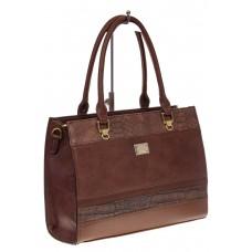 На фото 1 - Женская сумка из искусственной кожи, цвет рыже-кирпичный