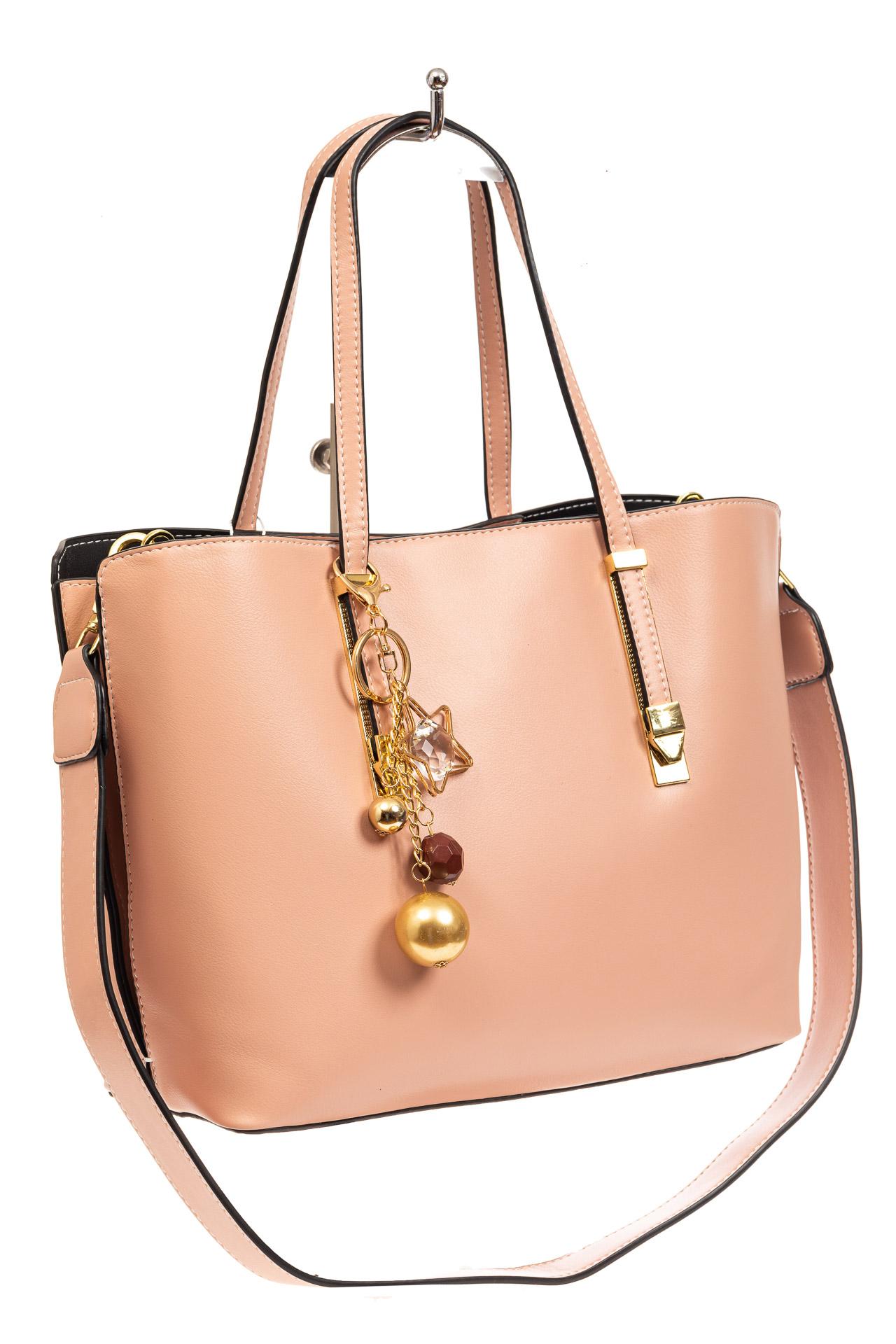 Женская сумка тоут из искусственной кожи, цвет розовый8670PJ0520/16